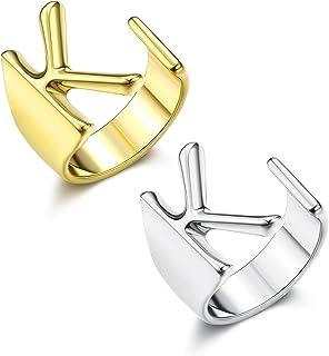 خواتم بحروف ذهبية اولية من A-Z للنساء مطلية بالذهب والفض قابلة للتعديل من فيبو ستيل
