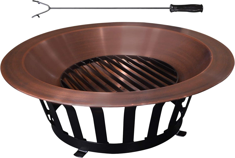 """Titan 40"""" Copper Outdoor Fire Pit – Premium Pick"""