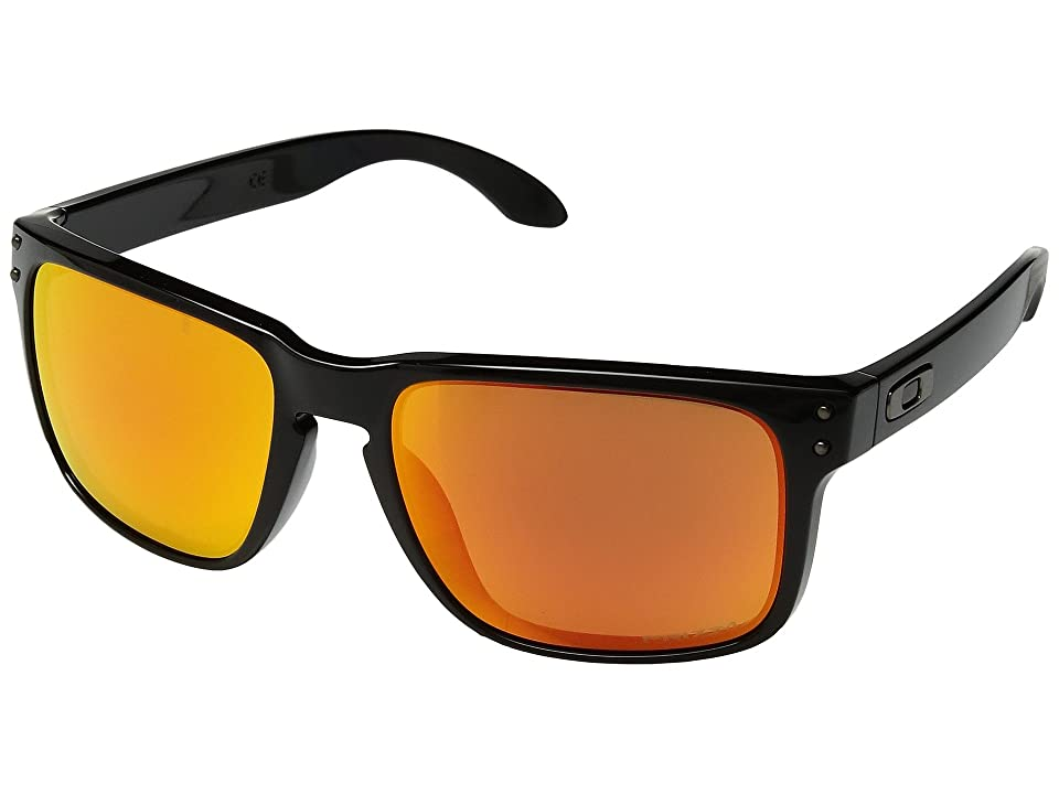 Oakley Holbrook (Polished Black w/ Prizm Ruby Polar) Sport Sunglasses