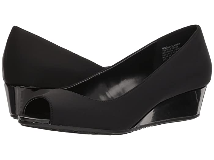 Bandolino Candra (Black Lycra) Women's Wedge Shoes
