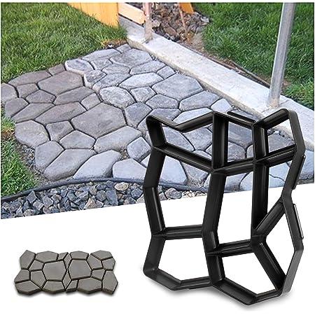 YAOBLUESEA Moule béton Forme trottoirs Coffrage Forme Plastique Formes pour béton Dalles pour Le Jardin 42,5 x 42,5 x 4 cm