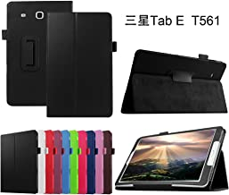 Galaxy Tab E 9.6 Case,Mama Mouth PU Leather Folio 2-Folding Stand Cover with Stylus Holder for Samsung Galaxy Tab E 9.6 / E Nook 9.6 Inch T560 T561 T567 Verizon 4G LTE,Black