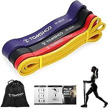 TOMSHOO Resistance Bands, huidvriendelijke 5XS latex pull-up assistent-banden voor crossfit, stretching en powerlifting