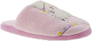 Chatties Girls' Big Kid Slip On Plush House Slippers, Cute Warm Comfortable Shoes for Home