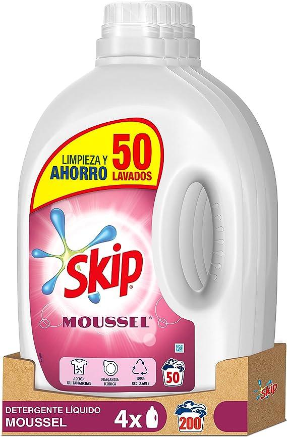 Skip Detergente Líquido Moussel 50 lavados - Pack de 4