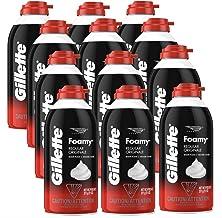 Gillette Foamy Regular Shaving Foam, 11 oz (Pack of 12)