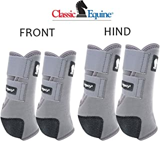 Classic Equine MEDIUM LEGACY2 HORSE FRONT HIND SPORTS BOOTS 4 PACK GREY