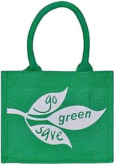 Jute Cottage Jute Bags for Lunch for Women and Men | Jute Grocery Bag | Jute Carry Bag | Jute Tiffin Bags | Printed Jute B...