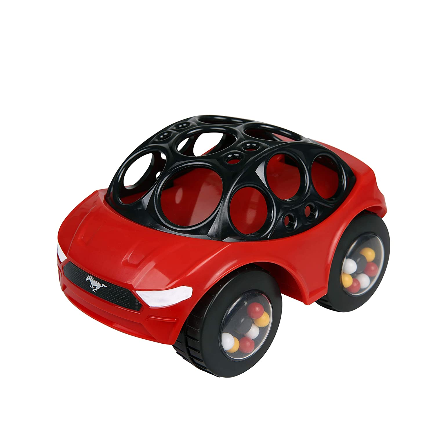 Bright Starts Ford Rattle & Roll Mustang Easy Grasp Push Vehicle Toy, Ages 3 Months +