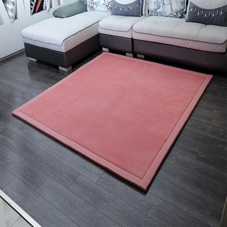 Solid color coral velvet mat [modern] Simple Coral velvet padded mat Bedroom Bedside mats-A 80x200cm(31x79inch)