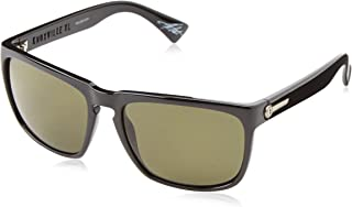 Electric Visual Knoxville XL Gloss Black/OHM+Polarized Blue Sunglasses
