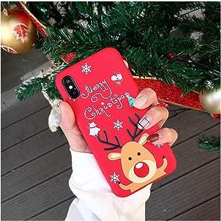 漫画クリスマス電話ケースiphone XS XR XSマックスサンタクロースヘラジカソフトTPUシリコンカバーiphone X 6 6 s 7 8プラスケース,For iPhone 6s,as picture show1
