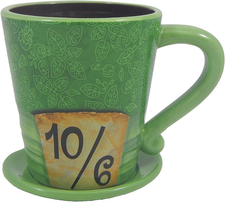 Disney Parks Exclusive Alice In Wonderland Mad As A Hatter Ceramic Coffee Mug