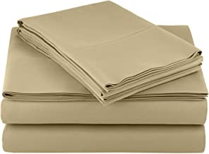 Microfiber RV Sheet Sets, 48x75 3/4 Full Bunk, Taupe Solid, Bed Sheets for Campers, RV's & Travel Trailers Fit Mattress up to 8 Inch deep