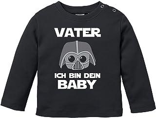 MoonWorks Baby Langarmshirt Vater ich Bin Dein Baby Bio Baumwolle Babyshirt Jungen Mädchen lustig Spruch Nerd Longsleeve Shirt