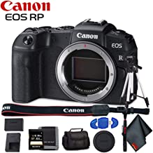 Canon EOS RP Mirrorless Digital Camera (Body Only) - Includes - Cleaning Kit, Memory Card Kit, Carrying Case and More!