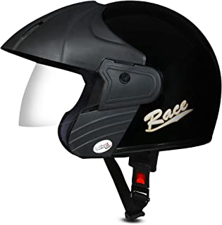ACTIVE RACE Open Face Helmet (BLACK)