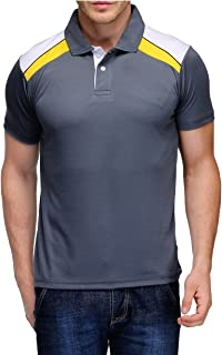 Scott Men's Jersey Collar Neck Sports Dryfit T-shirt - Grey