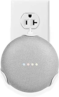 LANMU Wall Mount for Google Home Mini,Outlet Shelf Plug-in Bracket Holder for Google Home Mini Smart Voice Assistants, Space-Saving Accessories