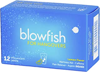 Best Blowfish for Hangovers - FDA-Recognized Hangover Remedy - Scientifically Formulated to Relieve Hangover Symptoms Fast (12 Tablets) Review