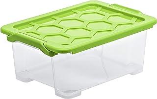 Rotho, Evo Safe Keeping, pudełko do przechowywania 11 l z pokrywką, tworzywo sztuczne (PP) przezroczyste BPA / zielone, 11...