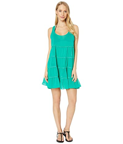 Kate Spade New York Solids Tiered Cover-Up Dress (Jade) Women