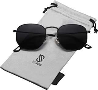 Small Square Polarized Sunglasses for Men and Women Polygon Mirrored Lens SJ1072