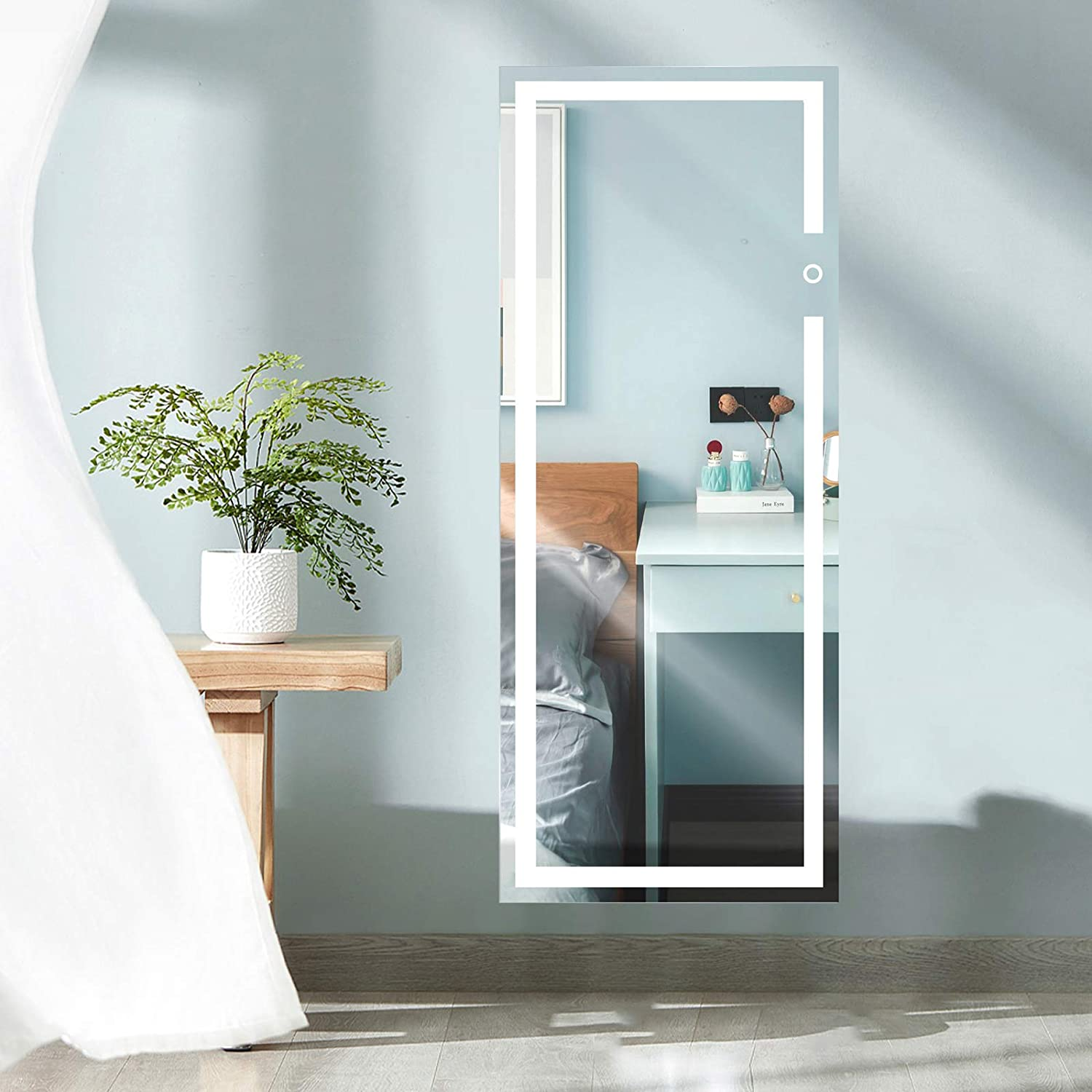 Vertical Vanity Max 46% OFF Mirror 47x22 Inches LED Wall wit Mounted Latest item Lighted