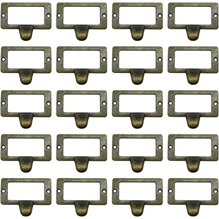 1PC Large Library Label Drawer Pull Label holders Label Frames Just Add Label LS088