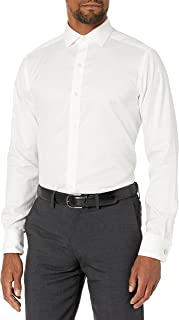 Buttoned Down mens Tailored-fit French Cuff Spread Collar Non-iron Dress Shirt