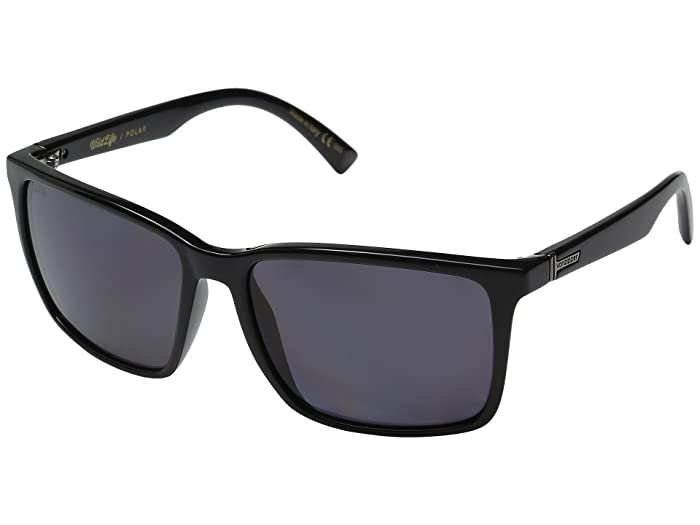VonZipper Lesmore Polarized (Black Gloss/Vintage Grey Wildlife) Sport Sunglasses