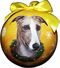 Greyhound Fawn Christmas Ornament Shatter Proof Ball Easy to Personalize A Greyhound Lovers