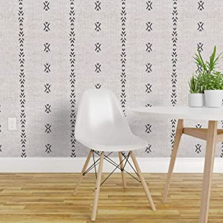 Peel-and-Stick Removable Wallpaper - French Modern Home Decor Apparel Stripe Boho Stitch Tribal by Holli Zollinger - 12in x 24in Woven Textured Peel-and-Stick Removable Wallpaper Test Swatch