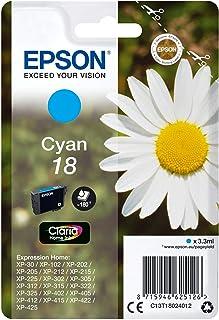 Epson XP30/102/202/302/405, standardowy wkład atramentowy, cyjan, oryginalny, gotowy do uzupełniania przez Amazon Dash
