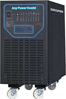 SUNGOLDPOWER 6000W Peak 18000W APV Low Frequency Pure Sine Wave Inverter DC 48V AC Input 240V Split Phase AC Output 120V 240V Battery Charger MPPT 40Amp Solar Charger Controller LCD.48KG!!