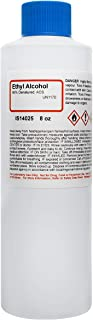 ACS Reagent Grade 95% Denatured Ethyl Alcohol, 8 Ounce - Ideal for Sanitizing Surface Cleaning - Not for Use on Body or Skin