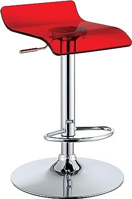 247SHOPATHOME IDF-BR6161S-RD Kannan Low Back Bar Chairs, Red