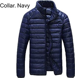 pleasantlyday New Men 90% White Duck Down Jacket Winter Duck Down Coat Waterproof Down Outerwear Puffer Jacket