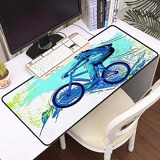 Luoquan Alfombrilla Raton Grande Gaming Mouse Pad,BMX Von Sportsman Ciclismo Extreme Bike Freestyle Triatlón Fahrrad Zyklu...