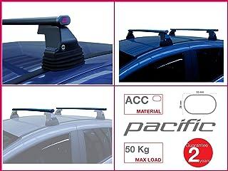 Barre PORTATUTTO PORTABAGAGLI Portapacchi PREASSEMBLATE in Alluminio per Auto con Rails Standard INTEGRATI Aperti Portata 90 kg Lunghezza 120 CM con 2 Serrature ANTIFURTO