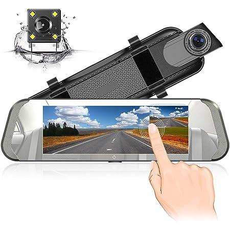 Spiegel Dash Cam 7 Zoll Ips Berührungsempfindlicher Bildschirm Volles Hd 1080p Mit 170 Weitwinkel Rückfahrkamera Doppellinse Mit Parkplatz Monitor G Sensor Daueraufnahme Bürobedarf Schreibwaren