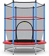 COSTWAY Ø140cm kindertrampoline, trampoline voor kinderen, tuintrampoline met veiligheidsnet, veiligheid pad, afgesloten r...
