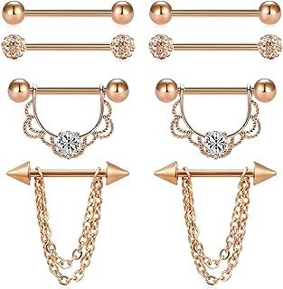 rose gold nipple jewelry