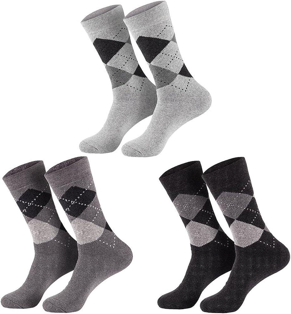 schwarze THERMOSOCKEN für Herren 6er Pack mit 85/% Baumwolle ohne Gummidruck