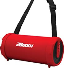2BOOM Mini Bass King Wireless Bluetooth Portable Outdoor Speaker with FM Radio LED Display - Red photo