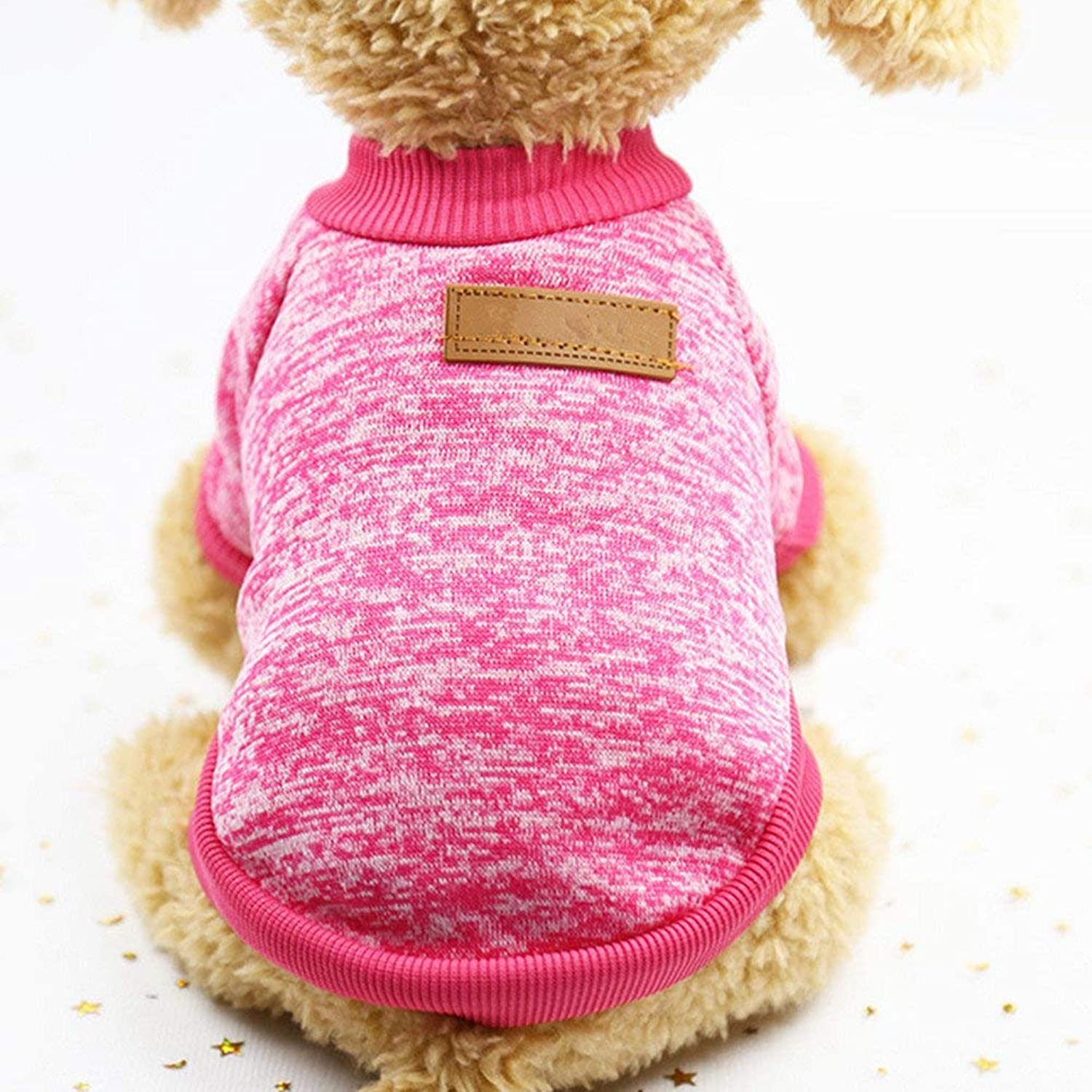 Dog Lead Dog Clothes, Pet Puppy Classic Woolen Dress Warm Sweater Dog Training Leash