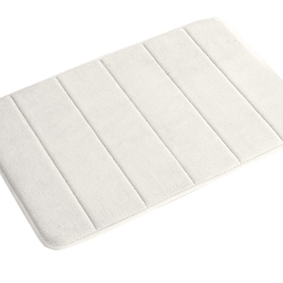 Memory Foam Bathroom Kid's Rug Mat, Slip-Resistant Extra Absorbent Bath Mat Set Non Slip Dry Fast Bath Mat Extra Soft and Absorbent, Machine-Washable Non-Slip Bath Rugs(Ivory, 20