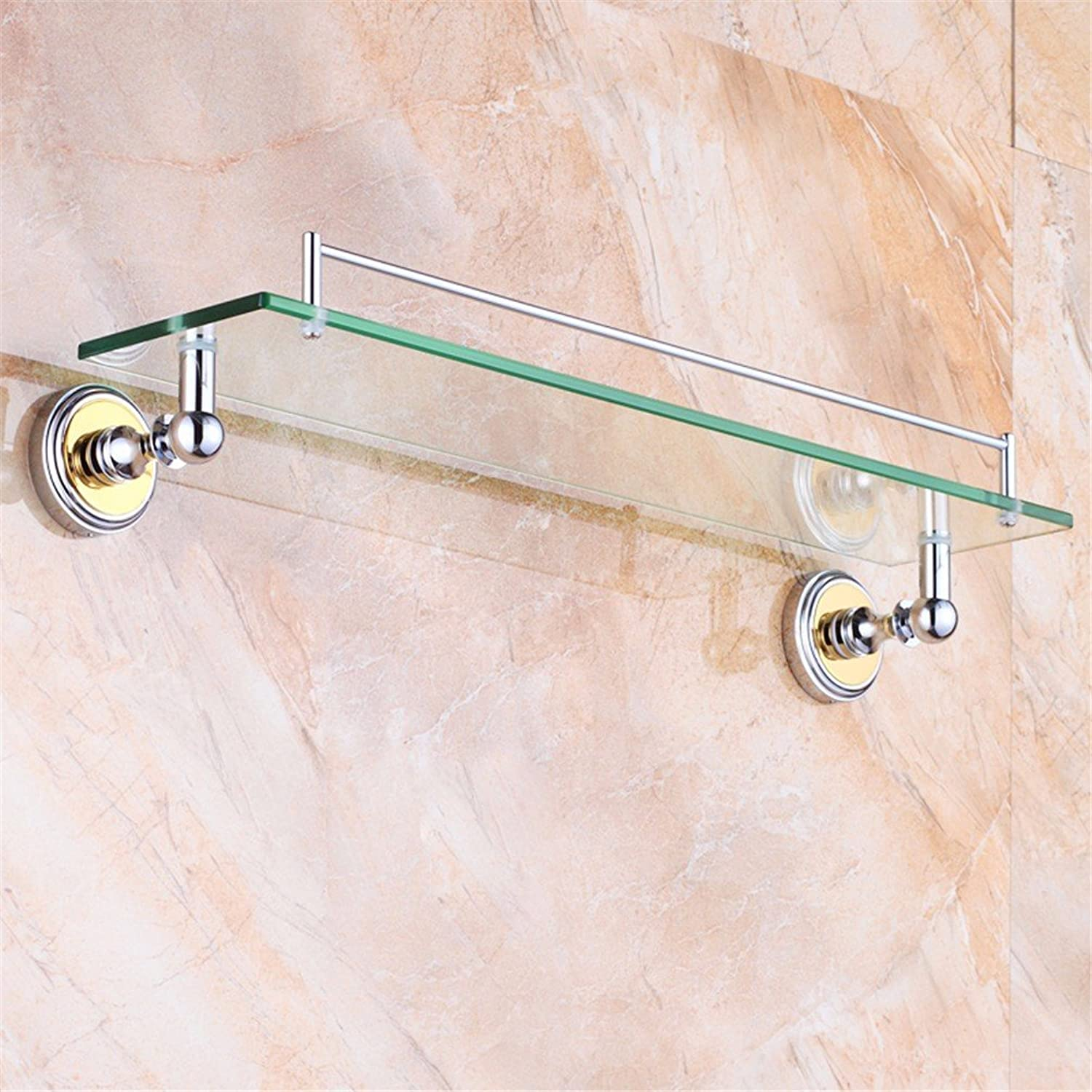 LAONA Euro-copper round Bathroom Wall-packaged toilet paper soap box Toilet brush, built-in shelf B1