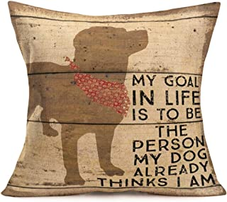 dog quote pillows