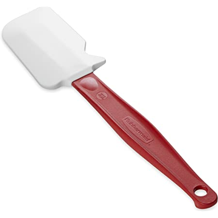"""Rubbermaid Commercial Products FG1962000000 High Heat Silicone Spatula, 9.5"""", Red Handle"""